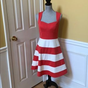 Romeo & Juliet Couture Coral and White Sun Dress